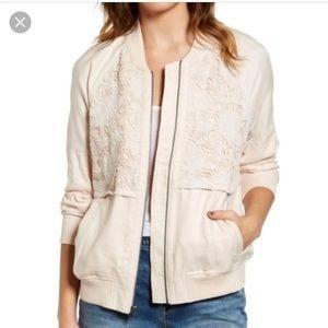 Hinge lace bomber jacket